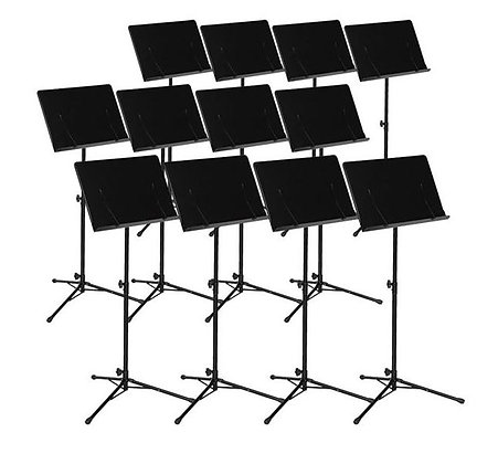 Ravel Conductor Premium Music Stand - 12 Stand Value Pack