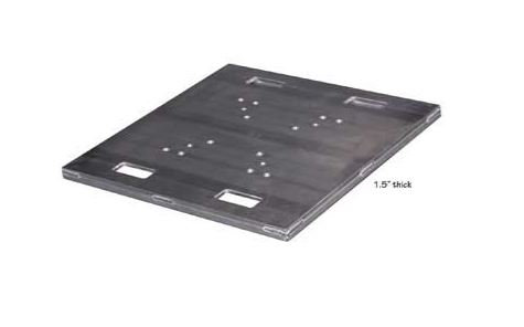 "Show Solutions PBH1200 30""x30""x1"" Heavy Duty Aluminum Base Plate"