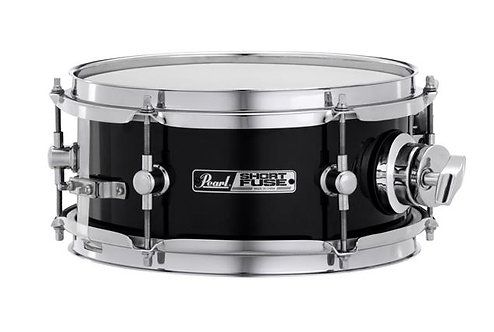 """Pearl Short Fuse 10""""x4.5"""" Snare Drum w/ Rotating Mounting Clamp - Jet Black"""