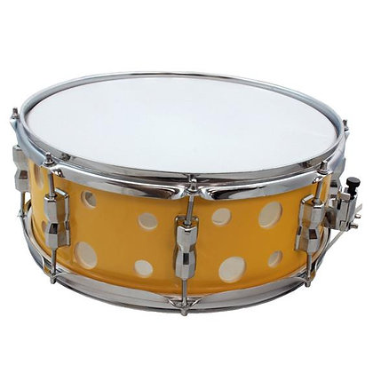 "Union 14""x5.5"" Cheese Style Wood Snare Drum w/ Holes - Yellow"