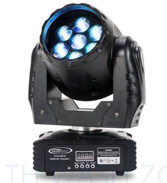 Eliminator Lighting STEALTH-WASH-ZOOM 7x 12W LED Wash Zoom