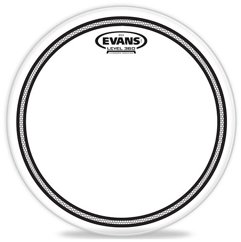 """Evans TT12EC2S 12"""" EC2 Clear Drum Head with Sound Shaping Ring"""