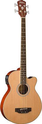 Washburn - Acoustic Bass Natural W/Gb44 Bag