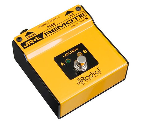 Radial Engineering JR1-L Latching Footswitch with Active (LED) Or Passive Circui