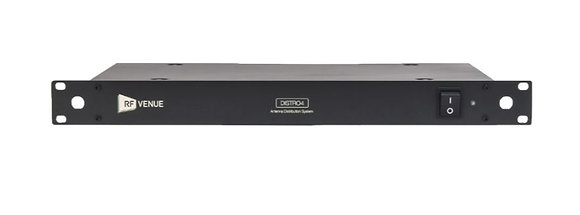 RF Venue DISTRO4 4-Channel RF and DC Antenna Distribution System