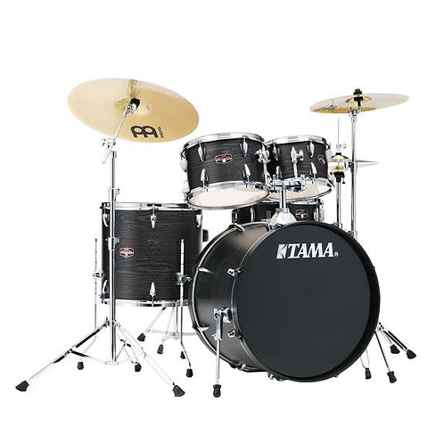 "Tama Imperialstar IE52CBOW 5-Piece Complete Drumset w/ 22"" Bass Drum, Meinl HCS"