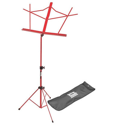 On-Stage SM7122RB Compact Sheet Music Stand (Red, w/ Bag)