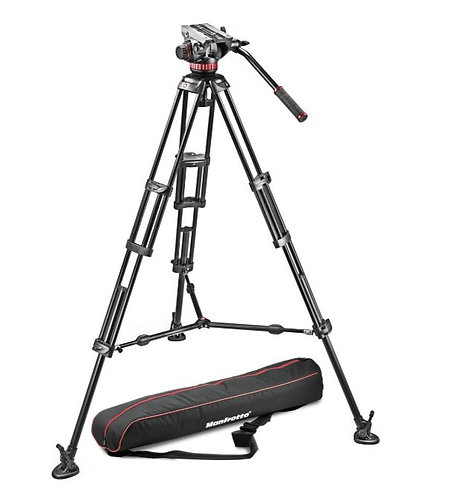 Manfrotto MVH502A,546BK-1 MVH502A Fluid Head and 546B Tripod With Mid Spreader