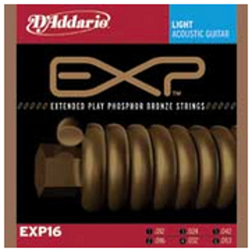 D`Addario EXP16 Light EXP Coated Phosphor Bronze Acoustic Guitar Strings