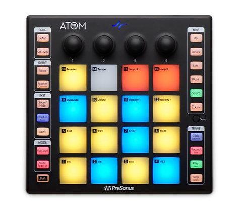 PreSonus ATOM 16-Pad Production and Performance MIDI Controller, USB