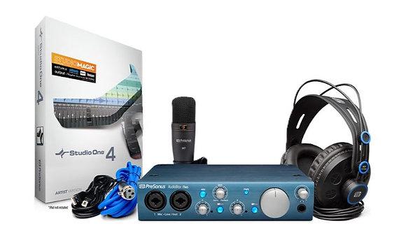 PreSonus AudioBox iTwo Studio Bundle with AudioBox iTwo Audio Interface, Headpho
