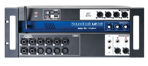 Soundcraft UI16 16-Channel Rackmount Digital Mixer, With WiFi Router