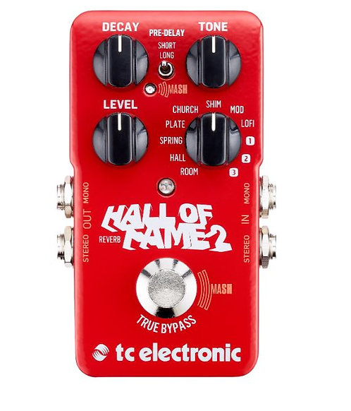TC Electronic HALL-OF-FAME-REV-2 Hall of Fame 2 Reverb TonePrint Enabled Reverb