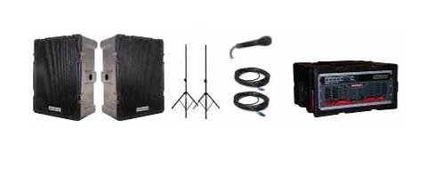 Technomad MPA-2 PA System Turn-Key Mobile with Noho C, 1000+ Listeners
