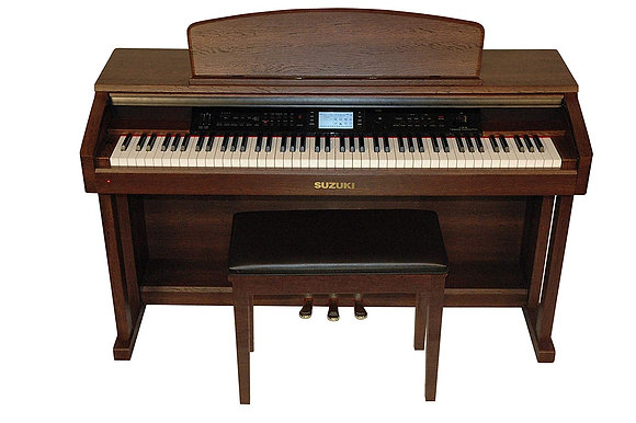 Suzuki Pianos - Classroom Teach Piano W/Bench (Mahogany Wood Grain)