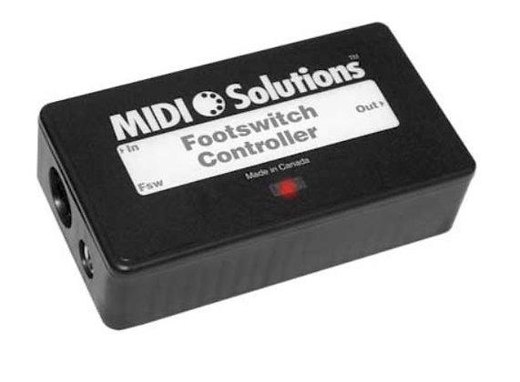 MIDI Solutions FOOTSWITCH Multi-Function MIDI Event Generator