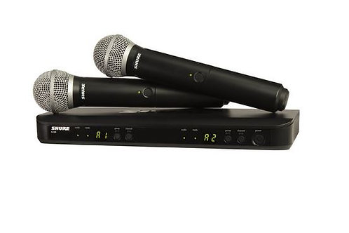 shure blx288 pg58 h9 blx series dual channel wireless mic system with 2 pg58 han grey willow music. Black Bedroom Furniture Sets. Home Design Ideas