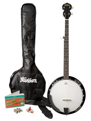 Washburn - Banjo Pack W/Gig Bag Natural