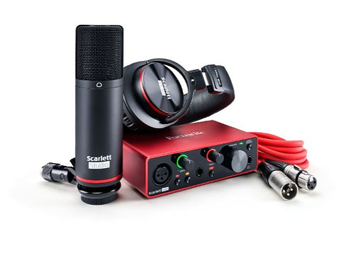 Focusrite SCARLETT-SOLO-STU-3G Complete Recording Bundle With Scarlett Solo USB