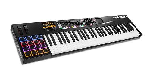 M-Audio CODE61BLKXUS MIDI Key Controller,USB 61 Key, Black