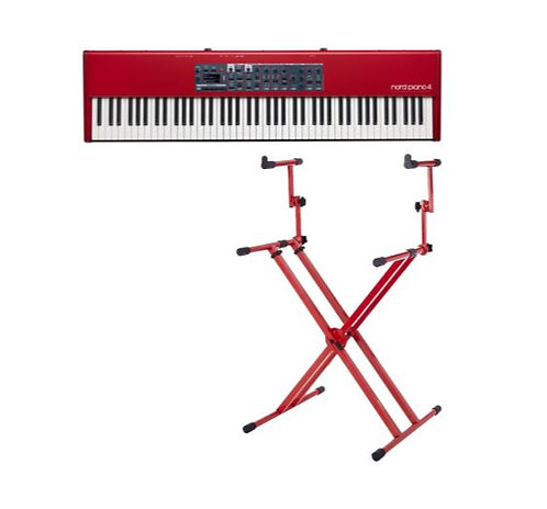 Nord PIANO 4 KEYBOARD BUNDLE 88-Key Digital Piano With Two Tier X Style Keyboard