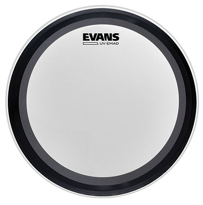 "Evans BD22EMADUV 22"" UV EMAD Coated Bass Drum Head"