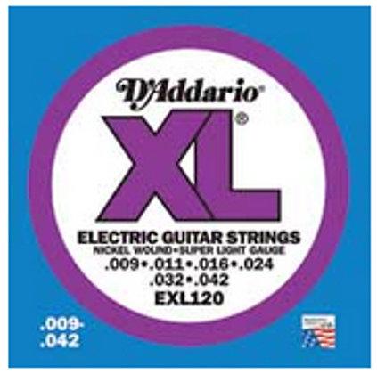 D`Addario EXL120-10P 10 Pack of Super Light XL Electric Guitar Strings