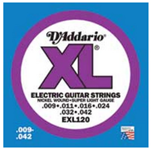 D`Addario EXL120-10P 10 Pack of Super Light XL Electric Guitar Strings