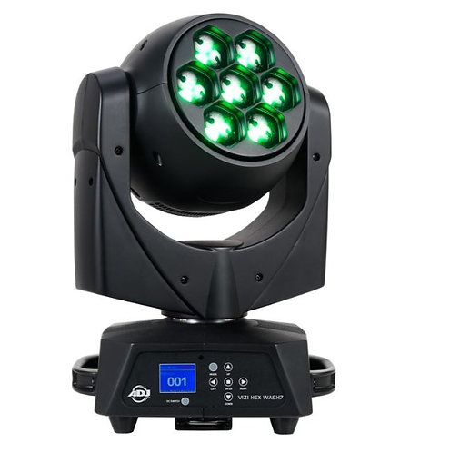 ADJ Vizi Hex Wash7 7x15W RGBWA+UV LED Moving Head Wash With Zoom