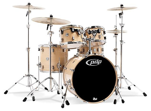 Pacific PDP Concept Maple 5-Piece Drum Shell Pack w/ Chrome Hardware - Natural