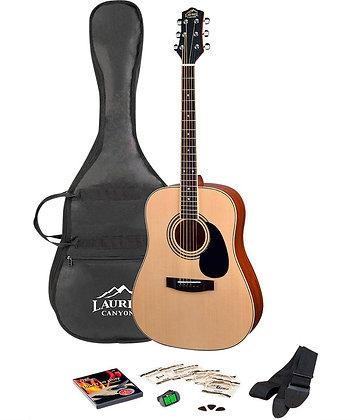 Laurel Canyon LD-100PKG Acoustic Guitar Pack Natural