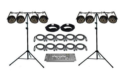 Lightronics FXLD618FRP2I - 8 Par Light Kit