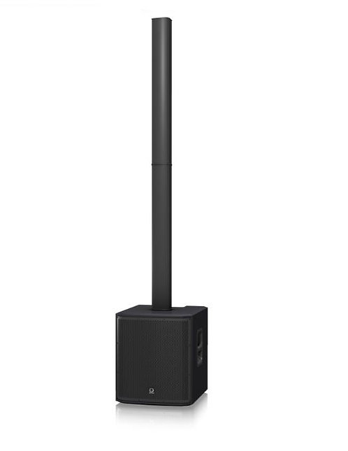 "Turbosound IP2000 Active Column Speaker with 12"" Subwoofer, 1000W, Black"