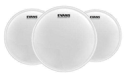 "Evans ETP-UV1-F UV1 Coated Tom Pack-Fusion, 10"", 12"", 14"""