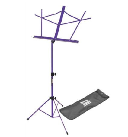 On-Stage SM7122PB Compact Sheet Music Stand (Purple, w/ Bag)