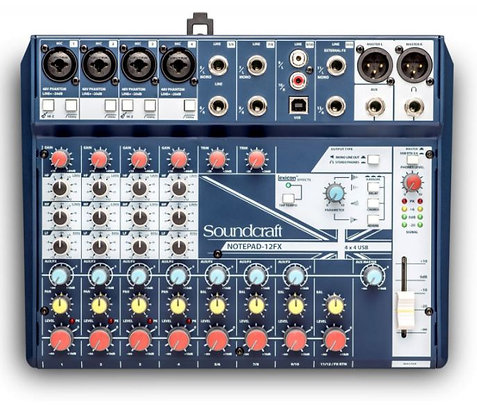 Soundcraft Notepad-12FX Mixer with Effects and USB