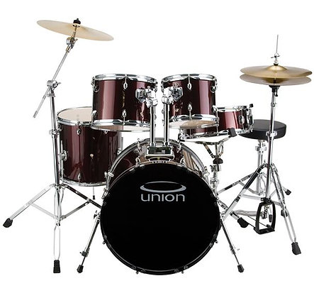 Union - U5 5-Piece Jazz/Rock/Blues Drum Set with Hardware, Cymbals, and Throne -