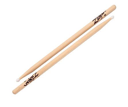 Zildjian Z5AN 5A Nylon Tip Drum Sticks with a Natural Finish