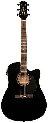 Jasmine - (Ea)Jas Jd39 Drd Ae Ca Blk W/C Acoustic / Electric Guitar