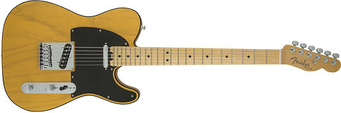 Fender American Elite Ash Telecaster Tele Solidbody Electric Guitar with Ash Bod