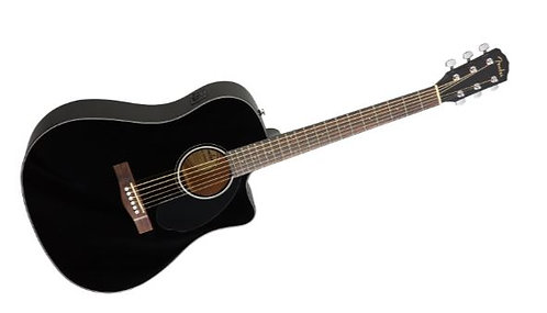 Fender CD-60SCE Black Acoustic-Electric Guitar with Walnut Fingerboard