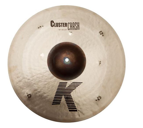 "Zildjian K0933 18"" Extra-Thin Crash Cymbal with Unlathed Bell"