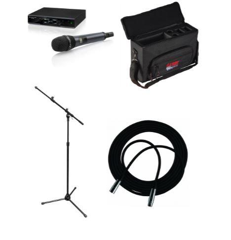 Sennheiser EWD1-835S-SNGL-K Wireless Handheld System Bundle with Case, Mic Stand