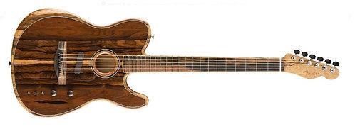 Fender Acoustasonic Telecaster Hybrid Acoustic-Electric Modeling Guitar with Thr