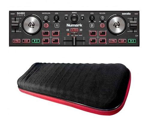 Numark DJ2GO2 Touch Pocket DJ Controller with Nano DJ Controller EVA Bag Package