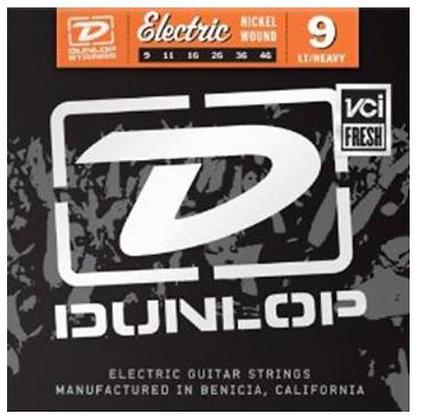 Dunlop DEN0946 Nickel Plated Steel Light Top Heavy Bottom Electric Strings, .009