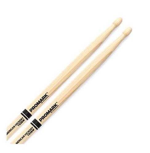 Pro-Mark TX5BW Hickory 5B Wood Tip Drum Sticks (PAIR)