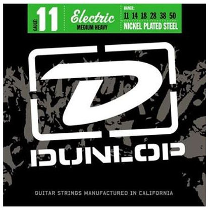 Dunlop DEN1150 Nickel Plated Steel Medium Heavy Electric Guitar 6 String Set, .0