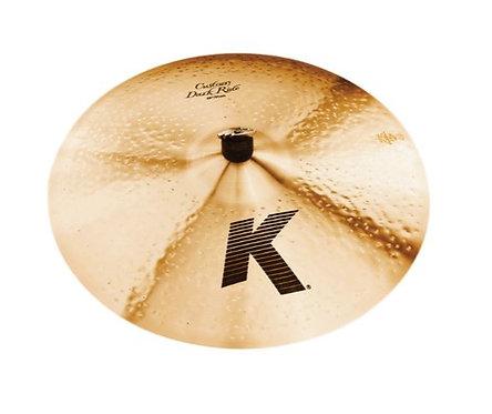 "Zildjian K0965-SF 20"" K Custom Medium Thin Dark Ride Cymbal in Natural Finish"