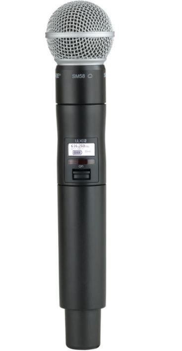 Shure ULX-D Series Handheld Transmitter with SM58 Cartridge (G50 band)